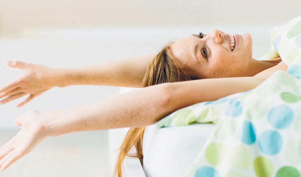 счастливый подъем, когда просыпаешься с главенством духовного внутри